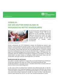 SOS-Mutter-Kind-Klinik in Mogadischu, Somalia